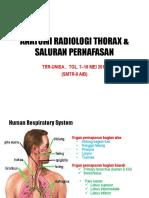Anatomi Radiologi Thorax & Saluran Pernapasan