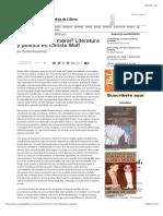 Christa Wolf_ literatura y política