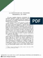 La constitución del paradigma pronominal de voseo- Fontanella