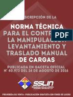 Norma Tecnica Para El Control, Manip y Trasl Manual de Cargas
