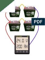 Circuito de Baterias em Paralelo 24 volts