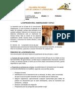 GUÍA N°5 LA EXPRESIÓN ORAL GRADO 10