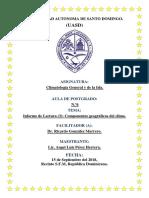 Informe Lectura (3) Factores Geográficos Del Clima.
