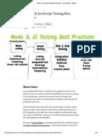Node.js & JavaScript Testing Best Practices – Yoni Goldberg – Medium