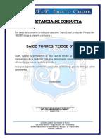Constancia de Conducta 2019