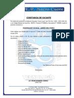 Constancia de Vacantes 2019 - Chaco