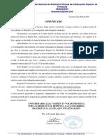 Comunicado Adrian Bolivar Abril