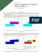 Manual para la definición de elementos de contacto en ANSYS APDL 15