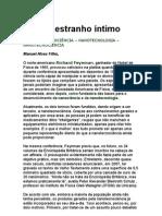O Estranho Íntimo - Nanotecnologia - Manuel Alves Filho - (Richard Feynman)