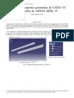 Manual para Importar de CATIA V5 a ANSYS APDL 15