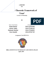 A game theoretic framework of trust