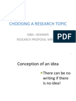 Choosing a Research Topic Revised 2010 Ppt