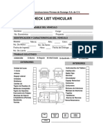 Check List Vehicular