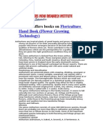 Industrial Project Books on Floriculture Hand Book (Flower Growing Technology)