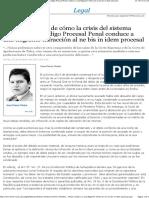 Crisis del sistema recursivo del Código Procesal Penal y flagrante infracción al ne bis in idem procesal - EML