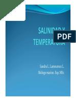 Salinidad y Temperatura 2018