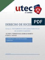 TESTAMENTO (DERECHO DE SUCESIONES)
