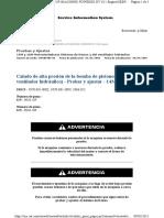 Calado de Alta Presión de La Bomba de Pistones (Freno, Ventilador Hidráulico) - Probar y Ajustar - 14M