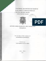 Apuntes sobre Gramática del Castellano de Iquitos