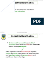 Geotechnical Considerations