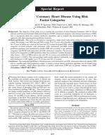 1998 Framingham - Prediction Coronary Hearth Disease Using Risk Factor Categories