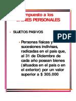 IMPUESTO A LOS BIENES PERSONALES- ARGENTINA