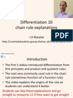 Differentiation 10 - Chain Rule
