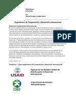 Organismos de Cooperacion y Desarrollo