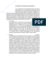 Propiedad Tixotrópica en Formulaciones Farmacéuticas