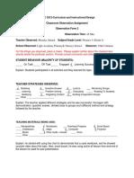 form 2-classroom observation assignment-