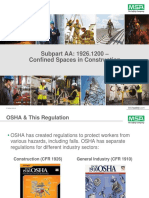 OSHA 1926.1200 Confined Spaces in Construction