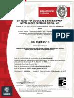 Certificado Iso 9001 - Sr Industria