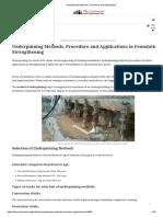 Underpinning Methods, Procedure and Applications