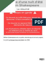 Le Songe d'Une Nuit d'Été - PDF Résumé (1)