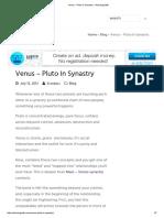 Venus - Pluto in Synastry - Astrology Bits