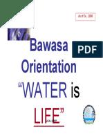 BAWASA Orientation (081104)