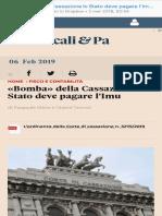 «Bomba» Della CassazioneLoStato Deve Pagare l'Imu