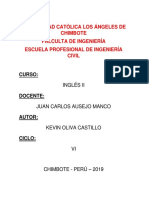 Ingles Actividad Nº1 - Kevin Oliva Castillo