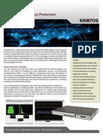Kratos DataDefender Network Packet Loss Protection Data Sheet
