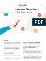 100 Marketing Interview Questions