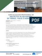 Brochure Proyectos de Movimientos de Tierras Viales e Hidraulicos