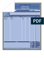 Inventory Control Sheet