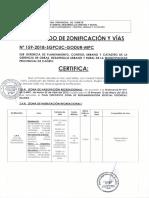 Certificado de Zonificación