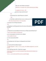 Clarificatory Questions