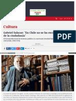 2015-08-09 Entrevista a Salazar Por Su Nuevo Libro Plantea Construir Lo Politico Desde Lo Social