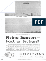 FLYING SAUCERS -- FACT OR FICTION? By John A. Keel and Dr. Donald H. Menzel