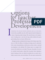 Option for Teacher's Professional Development