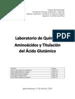 Aminoácidos y Titulación Del Ácido Glutámico