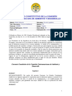 Convenio Constitutivo Comision Centroamericana Ambiente