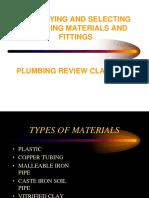 Plumbing Material Selection